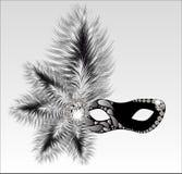 Máscara elegante do carnaval com penas bonitas Imagem de Stock Royalty Free