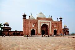 A máscara em Taj Mahal Foto de Stock Royalty Free
