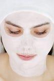 Máscara en cara imagen de archivo