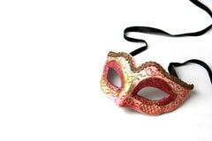 Máscara en color de rosa Imágenes de archivo libres de regalías