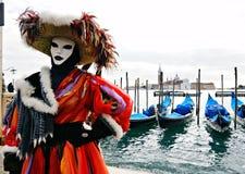 Máscara en Venecia, San Marco. Imagenes de archivo