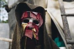 Máscara espeluznante de Halloween Máscara del horror Fotografía de archivo