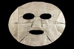 Máscara facial da folha Fotografia de Stock