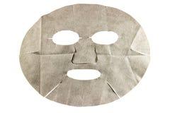 Máscara facial da folha no fundo branco Imagem de Stock Royalty Free