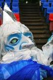 A máscara falsificada grande para mostrar a massa aberta ostenta o festival Fotos de Stock