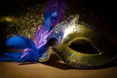 Máscara femenina del carnaval Fotos de archivo libres de regalías