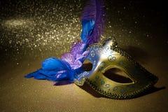 Máscara femenina del carnaval Imagenes de archivo