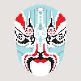 Máscara geométrica del chino Fotografía de archivo
