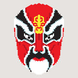 Máscara geométrica del chino Foto de archivo libre de regalías