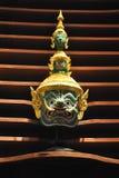 Máscara gigante verde Tailandia Foto de archivo libre de regalías