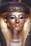 Máscara goldy antigua en el museo egipcio imagen de archivo