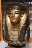 Máscara goldy antigua - museo egipcio imagenes de archivo