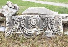 Máscara grega esculpida Imagens de Stock Royalty Free