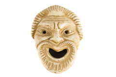 Máscara griega antigua Imágenes de archivo libres de regalías