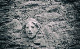 Máscara griega concreta Imágenes de archivo libres de regalías