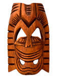 Máscara havaiana de madeira foto de stock