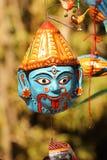 Máscara hermosa del kali de la diosa, concepto del rezo imagenes de archivo