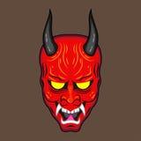 Máscara ilustrada del demonio Imagen de archivo libre de regalías