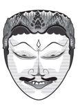 Máscara indonésia tradicional Foto de Stock Royalty Free
