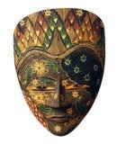 Máscara indonesia pintada con las flores Imagenes de archivo