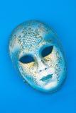 Máscara italiana azul do carnaval Imagens de Stock