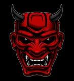 Máscara japonesa del demonio ilustración del vector