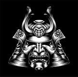 Máscara japonesa do samurai Imagem de Stock Royalty Free