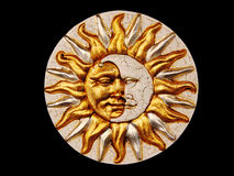 Máscara, la luna y el sol fotografía de archivo