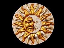 Máscara, a lua e o sol Fotografia de Stock