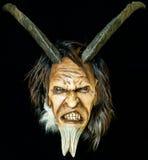 Máscara má satan de madeira Fotos de Stock Royalty Free