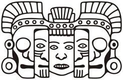 Máscara maia ilustração stock