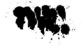 Máscara mate negra limpia de la salpicadura del punto de la tinta stock de ilustración