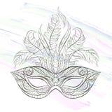 Máscara modelada ilustração royalty free