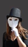Máscara na pessoa Imagens de Stock Royalty Free