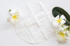 Máscara natural de la hoja para la cara de la piel de las flores herbarias Imagen de archivo libre de regalías