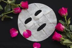 Máscara natural de la hoja para la cara de la piel de las flores herbarias Imágenes de archivo libres de regalías