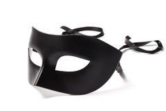Máscara negra del carnaval Imagen de archivo