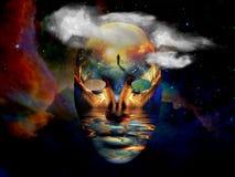 Máscara no espaço ilustração stock