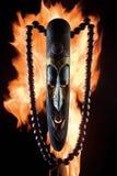 Máscara no incêndio Imagem de Stock Royalty Free