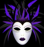 Máscara oscura púrpura del carnaval stock de ilustración