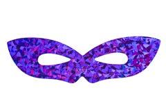 Máscara púrpura de la mascarada Imágenes de archivo libres de regalías