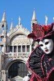 Máscara púrpura de la señora Imagen de archivo libre de regalías