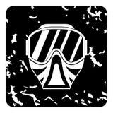Máscara para el icono de Paintball, estilo del grunge Fotos de archivo