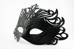 Máscara preta do carnaval Imagem de Stock