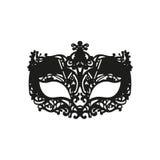 Máscara preta do carnaval Fotos de Stock