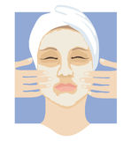 Máscara protectora Imagens de Stock