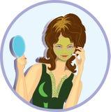 Máscara protectora da menina ilustração do vetor