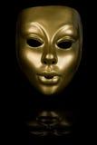 Máscara protectora dourada Fotografia de Stock Royalty Free