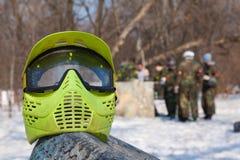 Máscara protetora da foto para o jogo do paintball Fotos de Stock Royalty Free