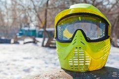 Máscara protetora da foto para o jogo do paintball Imagem de Stock
